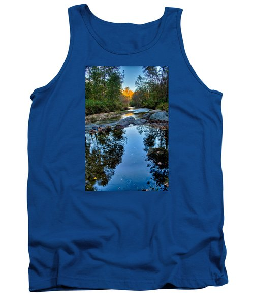 Tank Top featuring the photograph Stone Mountain North Carolina Scenery During Autumn Season by Alex Grichenko