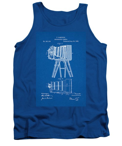 1885 Camera Us Patent Invention Drawing - Blueprint Tank Top