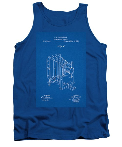1888 Camera Us Patent Invention Drawing - Blueprint Tank Top
