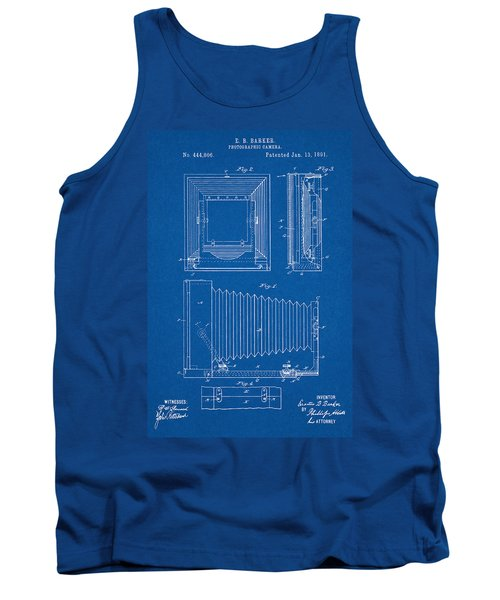 1891 Camera Us Patent Invention Drawing - Blueprint Tank Top