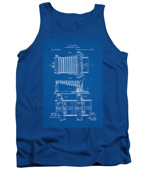 1897 Camera Us Patent Invention Drawing - Blueprint Tank Top