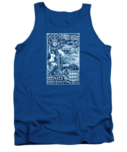 Tank Top featuring the painting 1912 Monaco Automobile Rally by Historic Image