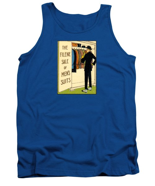 Tank Top featuring the painting 1920 Mens's Suites On Sale by Historic Image