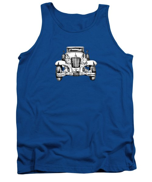 1929 Cord 6-29 Cabriolet Antique Car Illustration Tank Top