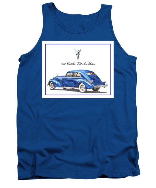 Tank Top featuring the painting 1936 Cadillac V-16 Aero Coupe by Jack Pumphrey