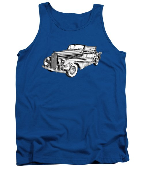 1938 Cadillac Lasalle Illustration Tank Top