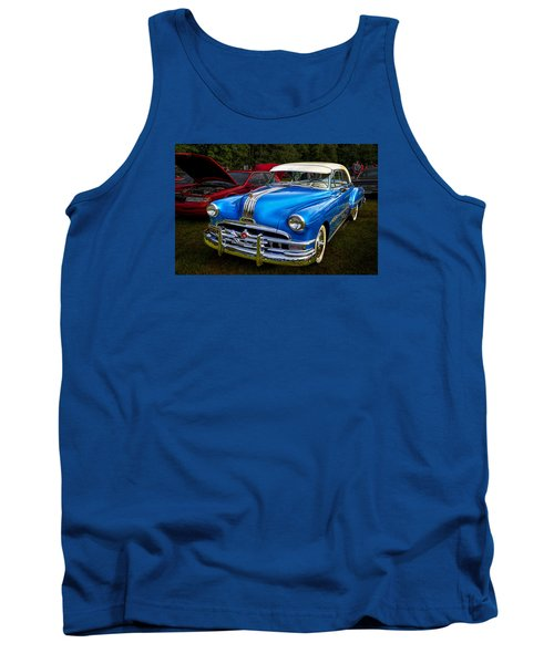 1952 Blue Pontiac Catalina Chiefton Classic Car Tank Top by Betty Denise