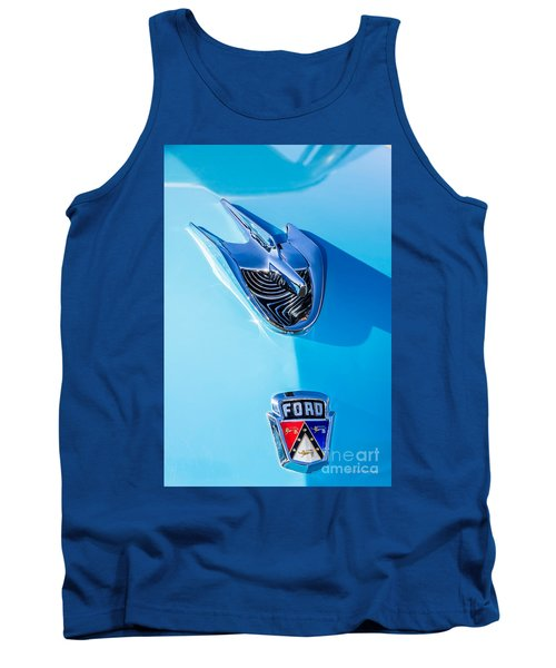 Tank Top featuring the photograph 1956 Ford Hood Ornament by Aloha Art