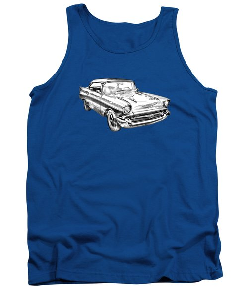 1957 Chevy Bel Air Illustration Tank Top