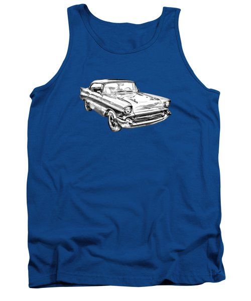 1957 Chevy Bel Air Illustration Tank Top