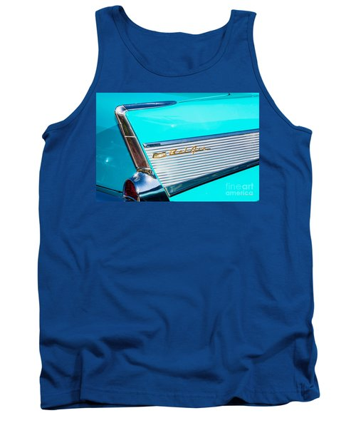 Tank Top featuring the photograph 1957 Chevy Bel Air Rear Fin by Aloha Art