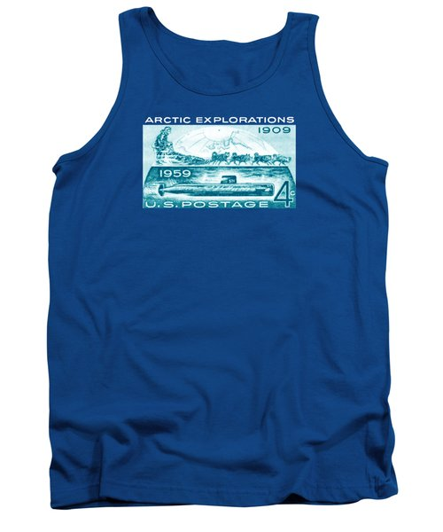 Tank Top featuring the painting 1959 Arctic Explorations by Historic Image
