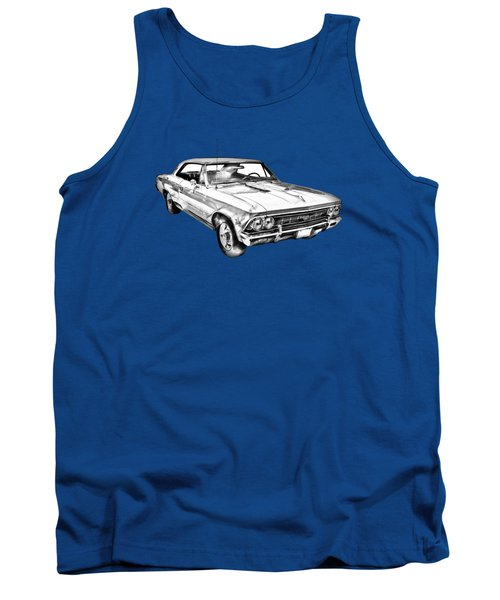 1966 Chevy Chevelle Ss 396 Illustration Tank Top