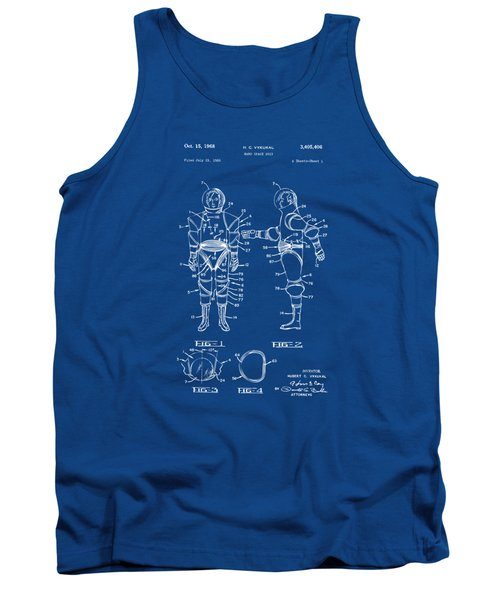 1968 Hard Space Suit Patent Artwork - Blueprint Tank Top by Nikki Marie Smith