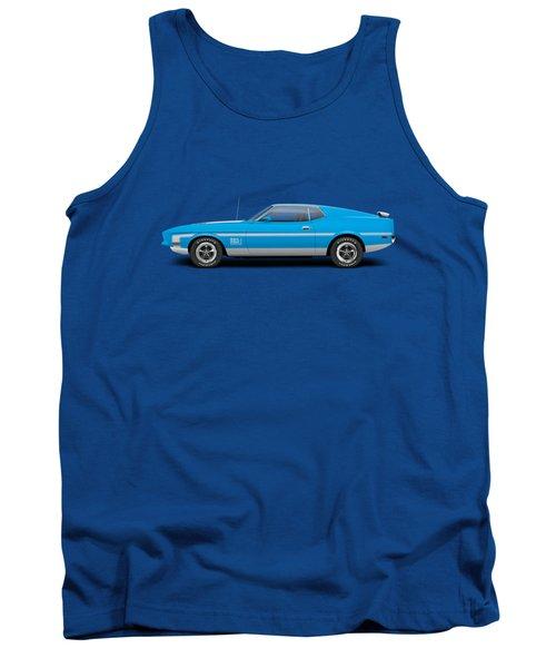1971 Ford Mustang Mach 1 - Grabber Blue Tank Top