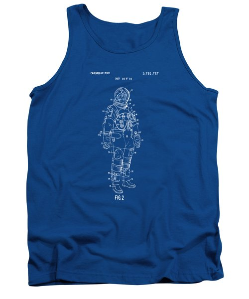 1973 Astronaut Space Suit Patent Artwork - Blueprint Tank Top by Nikki Marie Smith