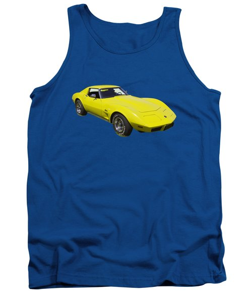 1975 Corvette Stingray Sportscar Tank Top