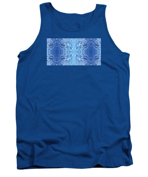 Frost Feathers Tank Top by Marianne Dow