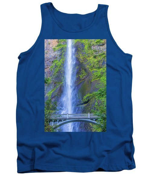 Tank Top featuring the photograph Multnomah Falls Bridge by Jonny D