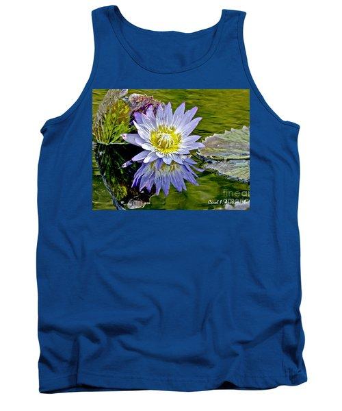 Purple Water Lily Pond Tank Top by Carol F Austin