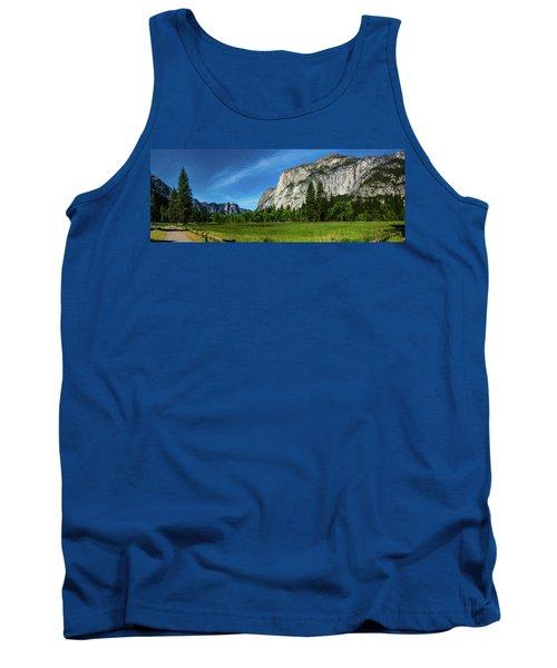 Yosemite Valley Meadow Panorama Tank Top