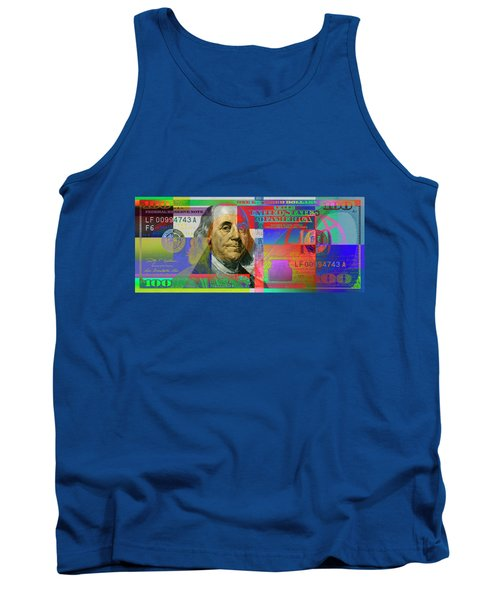 2009 Series Pop Art Colorized U. S. One Hundred Dollar Bill No. 1 Tank Top by Serge Averbukh