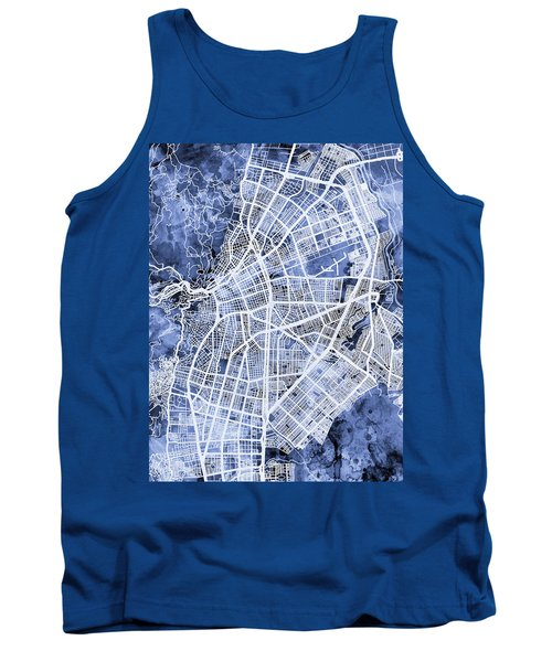 Cali Colombia City Map Tank Top