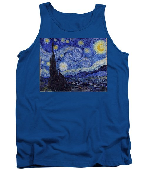 Tank Top featuring the painting Starry Night by Van Gogh