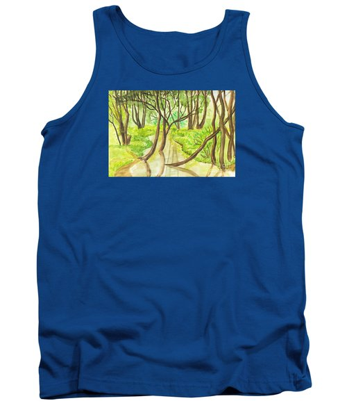 Summer Landscape, Painting Tank Top