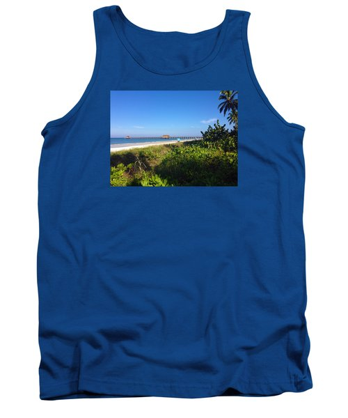 Tank Top featuring the photograph The Historic Naples Pier by Robb Stan