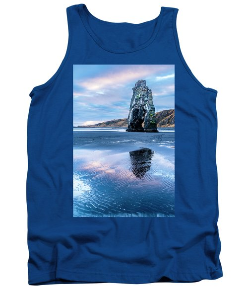 Dinosaur Rock Beach In Iceland Tank Top by Joe Belanger