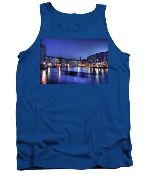 Tank Top featuring the photograph Venice By Night by Andrea Barbieri