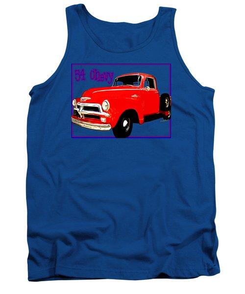 54 Chevy Pickup Acme Of An Age Tank Top
