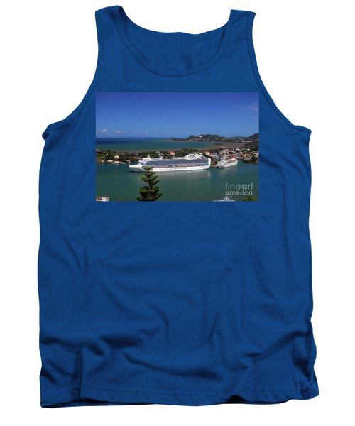 Tank Top featuring the photograph Cruise Ship In Port by Gary Wonning