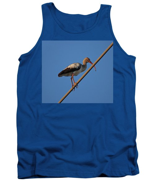 Tank Top featuring the photograph 8- Brown Ibis by Joseph Keane