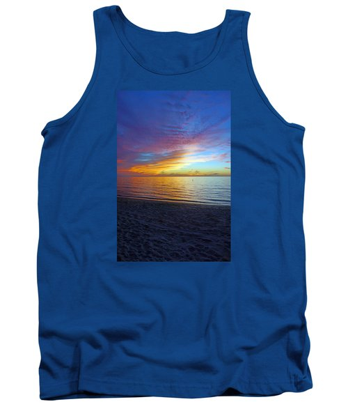 Sunset At Delnor Wiggins Pass State Park In Naples, Fl Tank Top