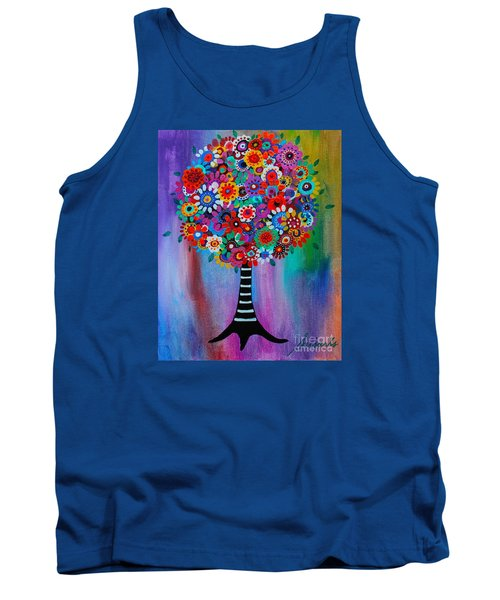 Tank Top featuring the painting Tree Of Life by Pristine Cartera Turkus
