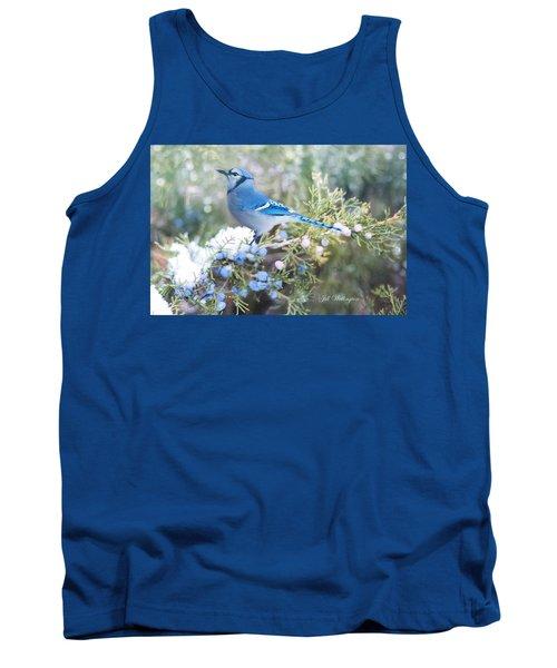 Tank Top featuring the digital art Winter Birds by Jill Wellington
