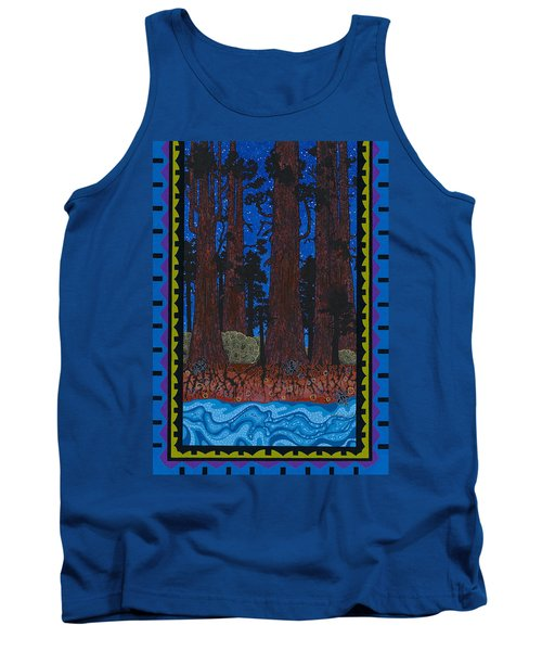 Tank Top featuring the painting A Forest Whispers by Chholing Taha