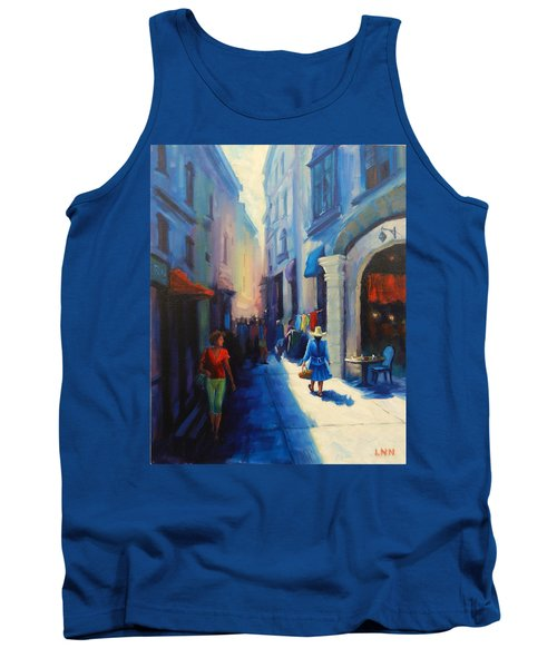 A Lady From Cajamarca In The City, Peru Impression Tank Top