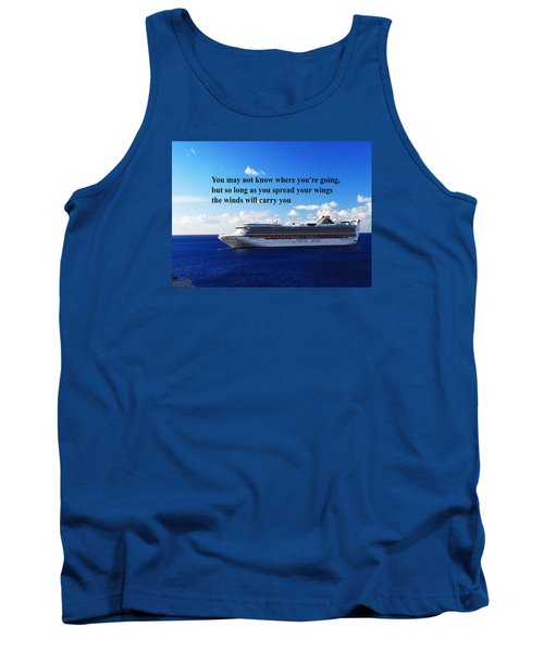 Tank Top featuring the photograph A Life Journey by Gary Wonning