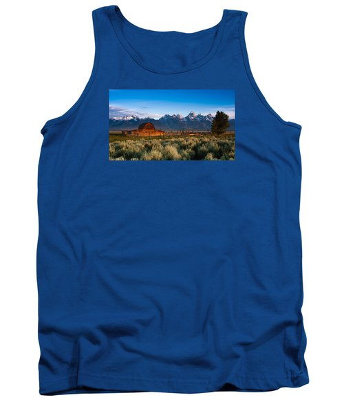 Tank Top featuring the photograph A Moulton Barn by Monte Stevens