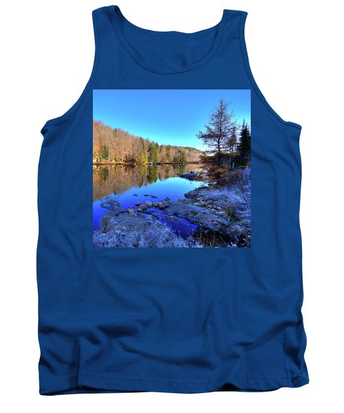 Tank Top featuring the photograph A November Morning On The Pond by David Patterson