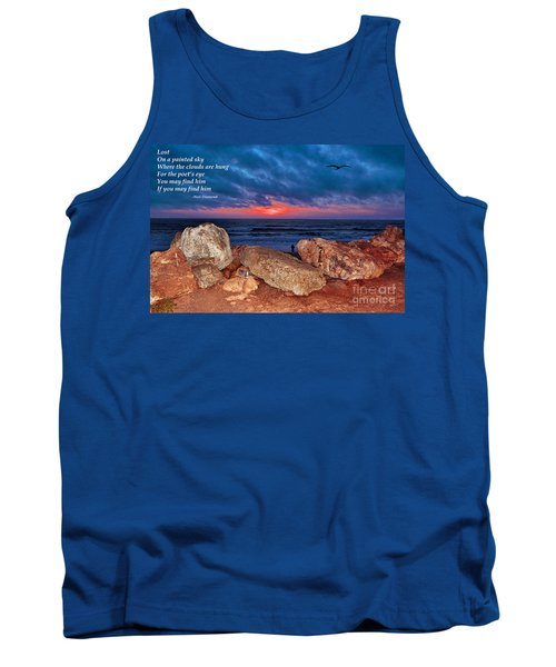 A Painted Sky For The Poet's Eye Tank Top by Jim Fitzpatrick