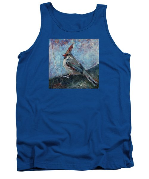 Tank Top featuring the painting A Pause In The Feast by Pattie Wall
