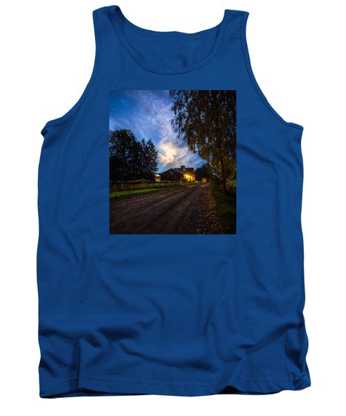 Tank Top featuring the painting A Peaceful Evening by Rose-Maries Pictures