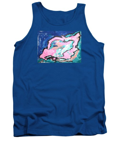 Tank Top featuring the painting A Rosy Experience by Esther Newman-Cohen