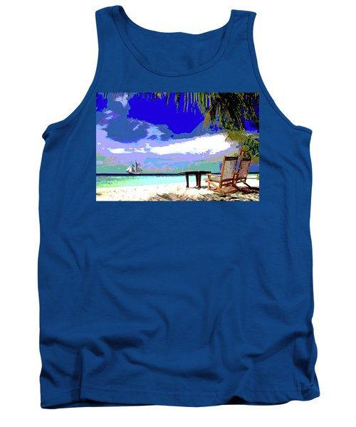 A Sunny Day At The Beach Tank Top
