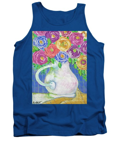 A Vase Full Of Happiness Tank Top by Rosemary Aubut