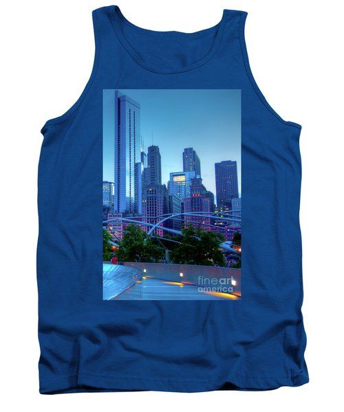 A View Of Millenium Park From The Amoco Bridge In Chicago At Dus Tank Top